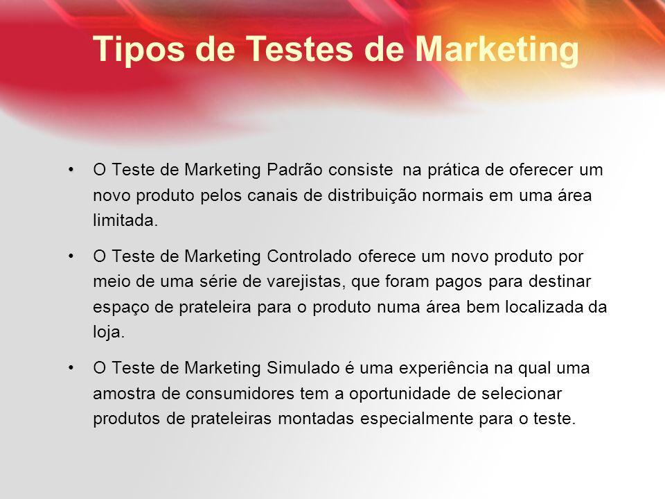 Tipos de Testes de Marketing