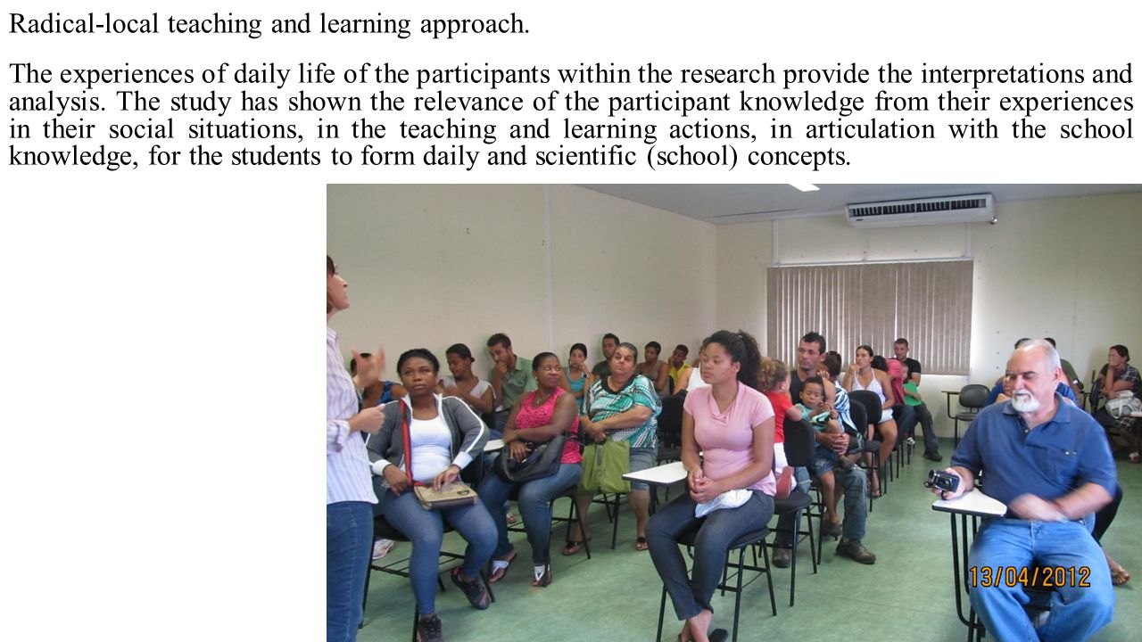 Radical-local teaching and learning approach.