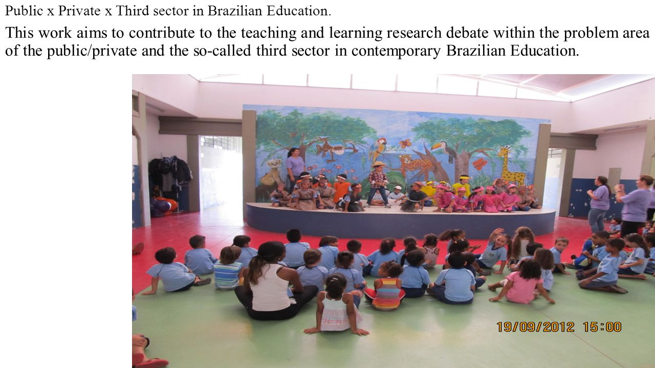 Public x Private x Third sector in Brazilian Education.
