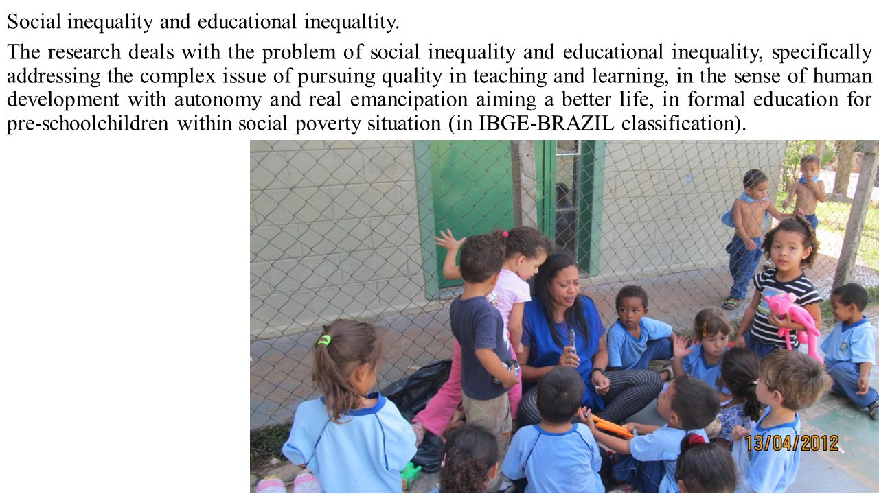 Social inequality and educational inequaltity.