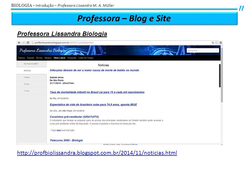 Professora – Blog e Site
