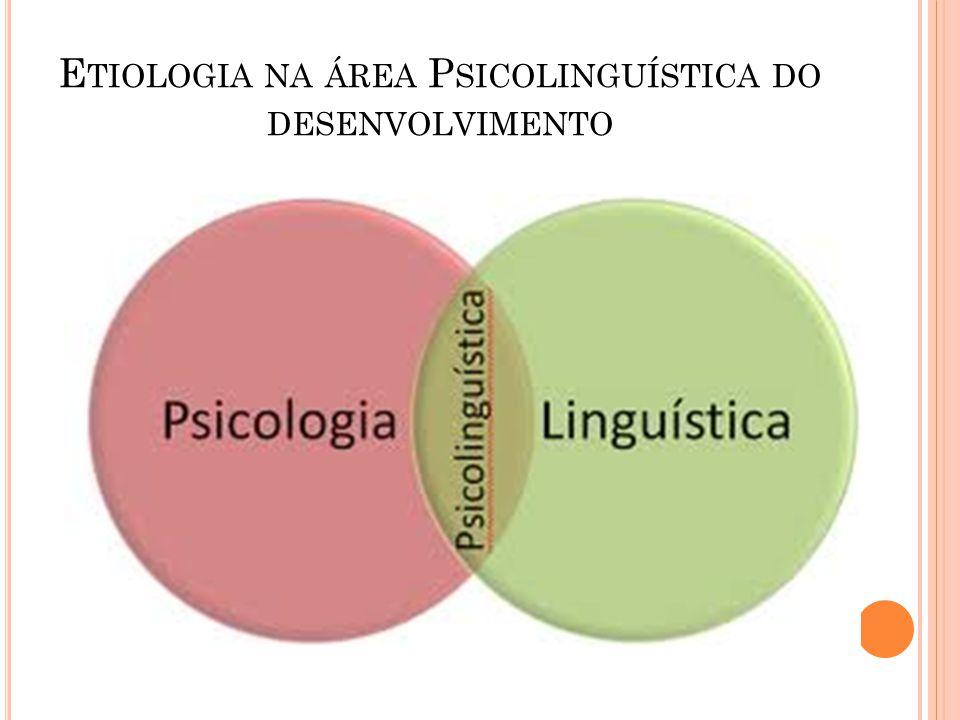 Etiologia na área Psicolinguística do desenvolvimento
