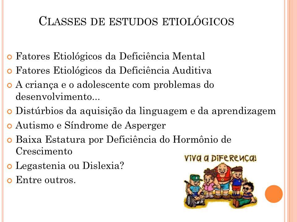 Classes de estudos etiológicos