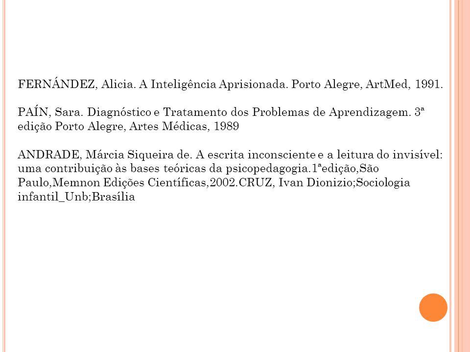FERNÁNDEZ, Alicia. A Inteligência Aprisionada