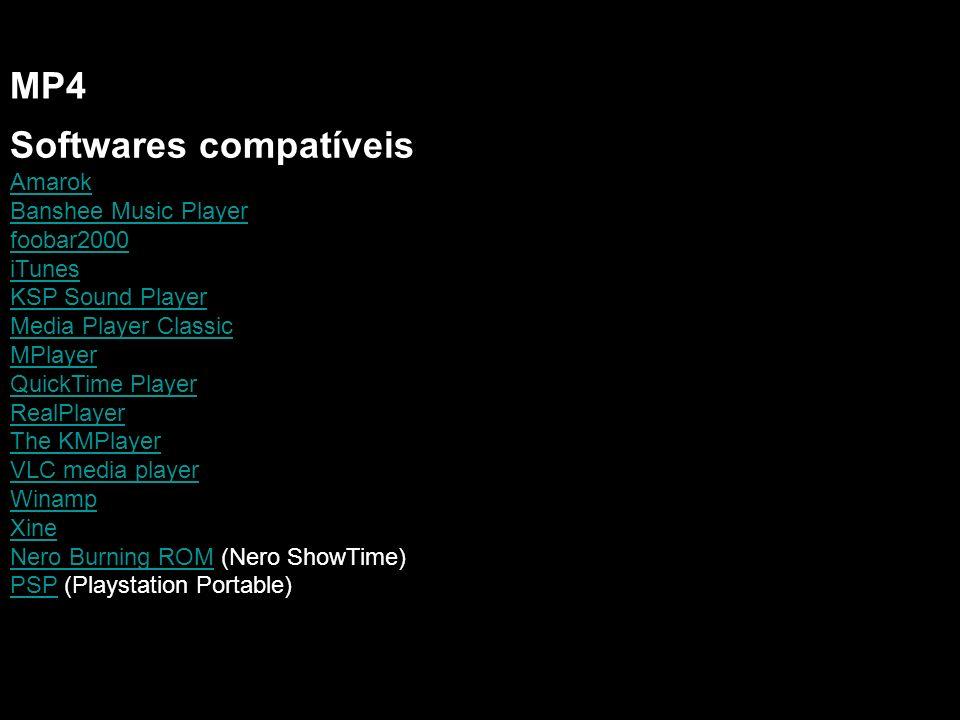Softwares compatíveis MP4