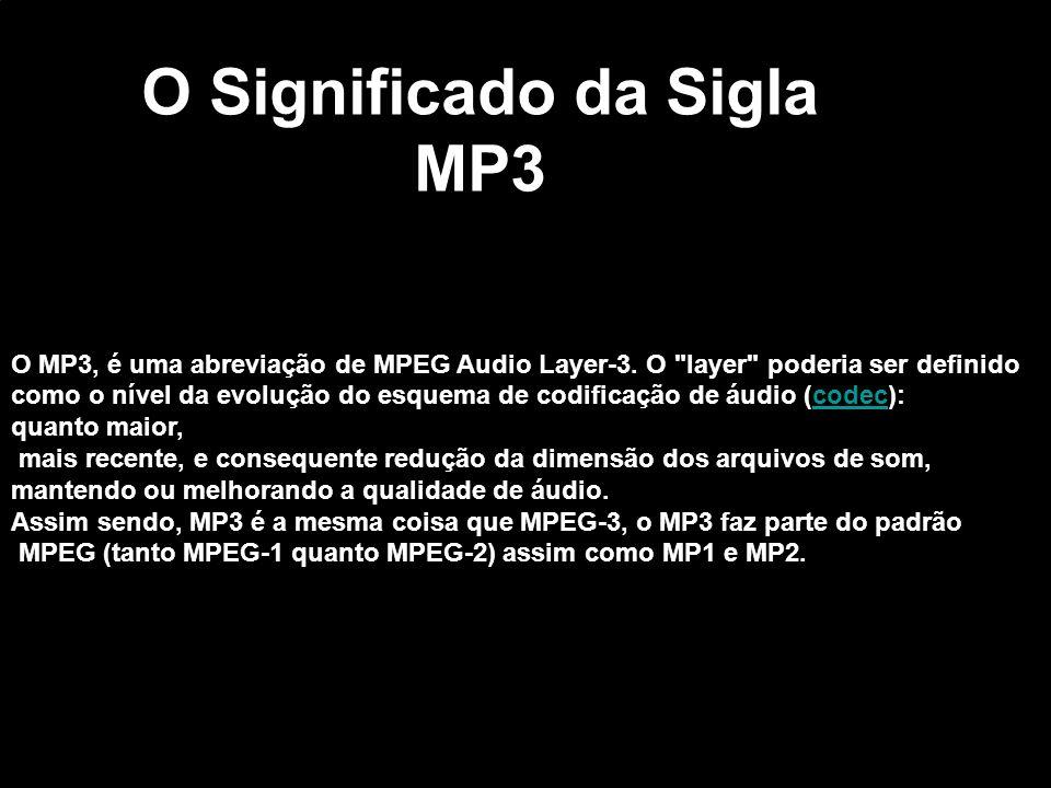O Significado da Sigla MP3