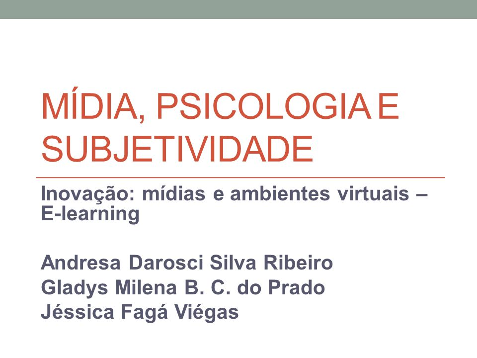 Mídia, psicologia e subjetividade