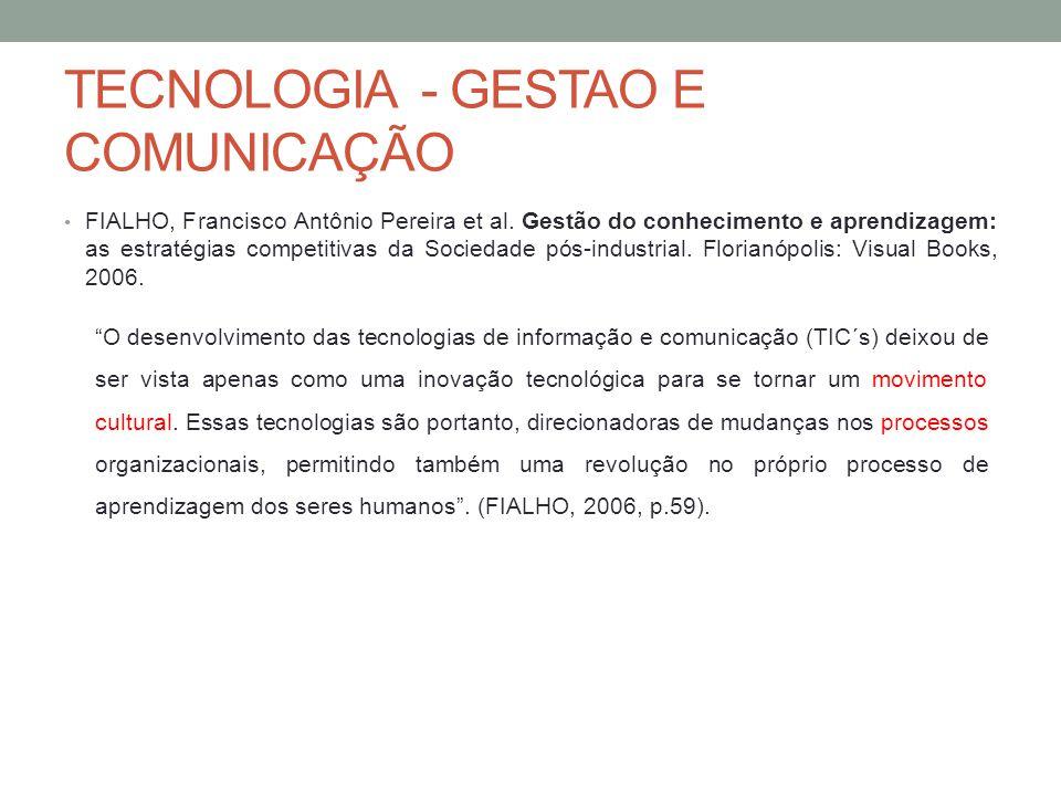 TECNOLOGIA - GESTAO E COMUNICAÇÃO