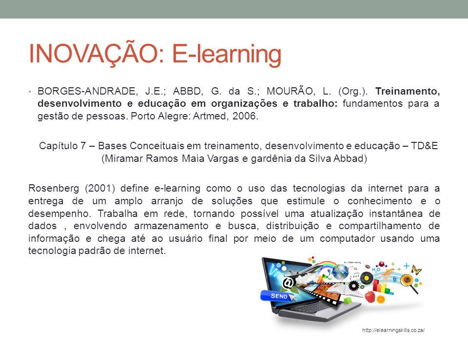 INOVAÇÃO: E-learning