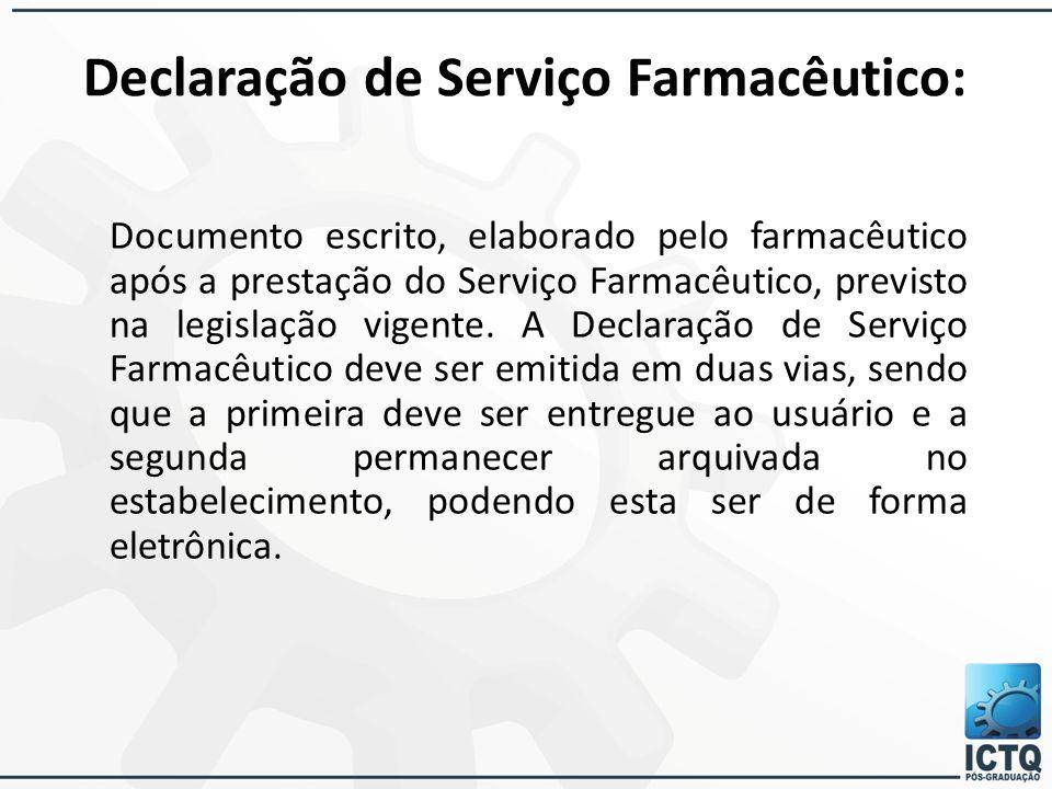 Declaração de Serviço Farmacêutico: