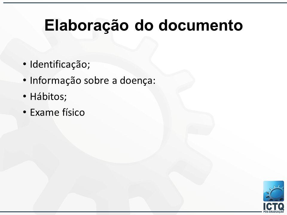 Elaboração do documento