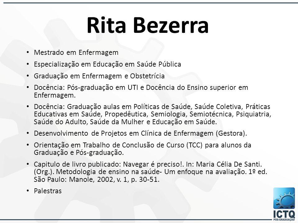 Rita Bezerra Mestrado em Enfermagem