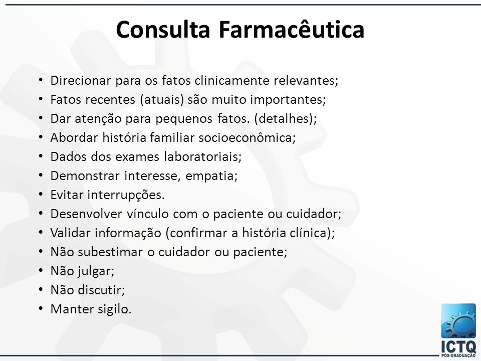 Consulta Farmacêutica