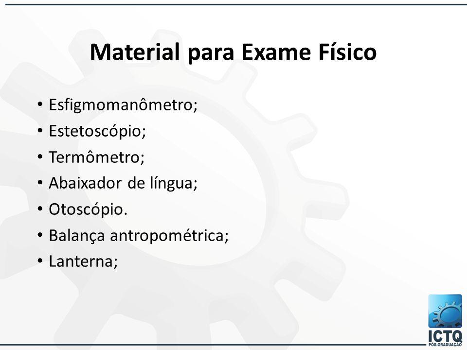 Material para Exame Físico