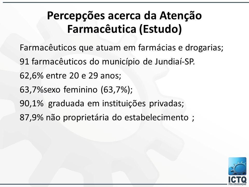 Percepções acerca da Atenção Farmacêutica (Estudo)