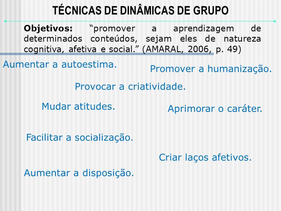 TÉCNICAS DE DINÂMICAS DE GRUPO
