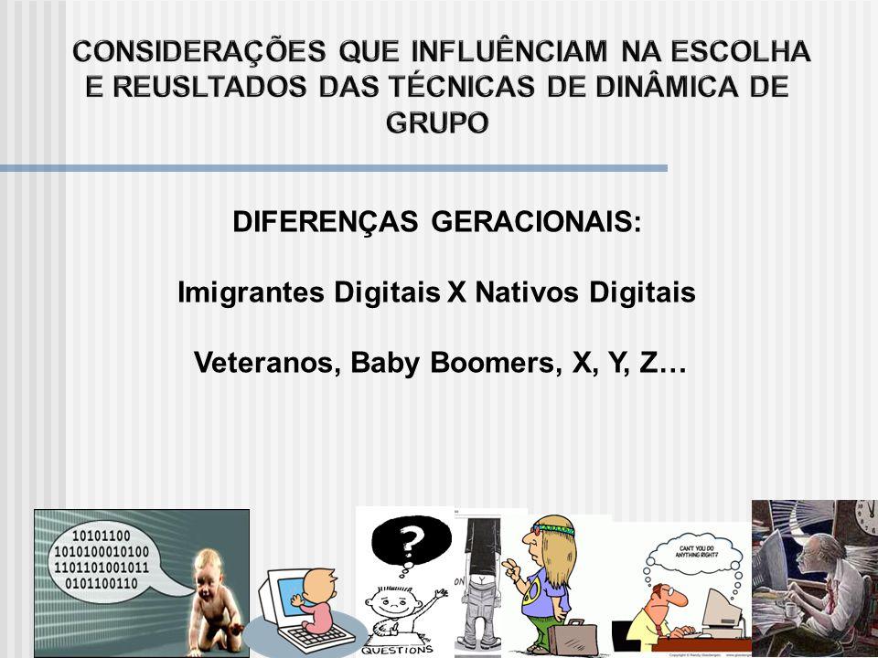 DIFERENÇAS GERACIONAIS: Imigrantes Digitais X Nativos Digitais
