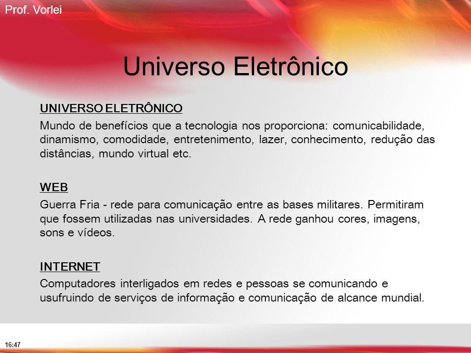 Universo Eletrônico UNIVERSO ELETRÔNICO