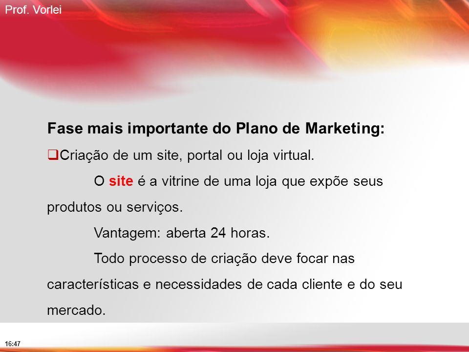 Fase mais importante do Plano de Marketing: