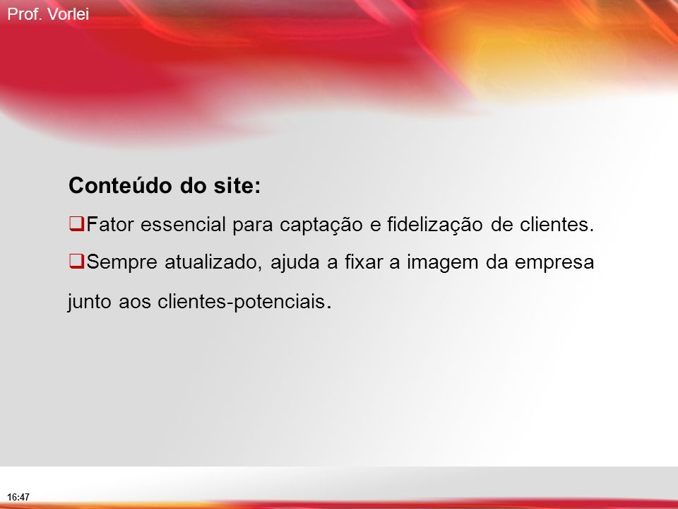 Conteúdo do site: Fator essencial para captação e fidelização de clientes.