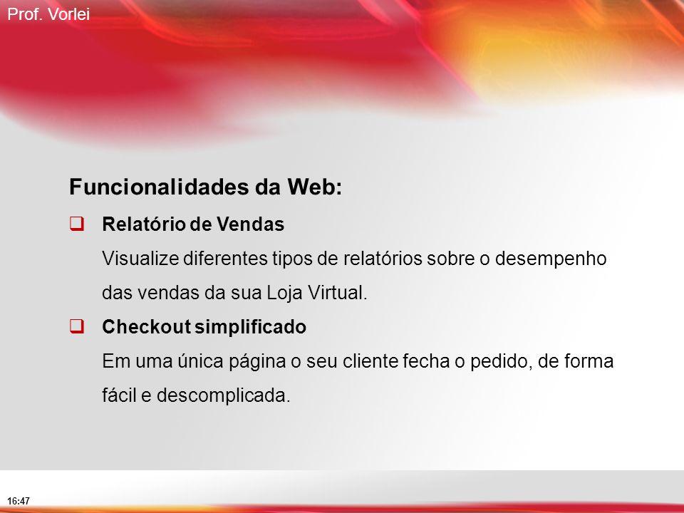Funcionalidades da Web: