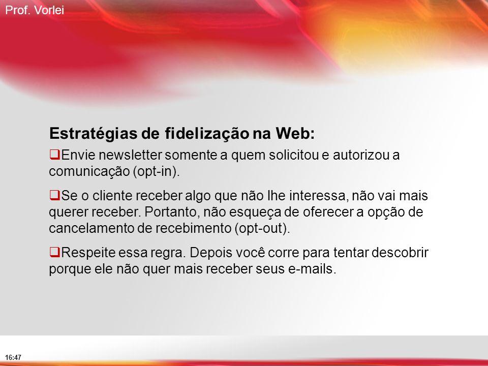 Estratégias de fidelização na Web:
