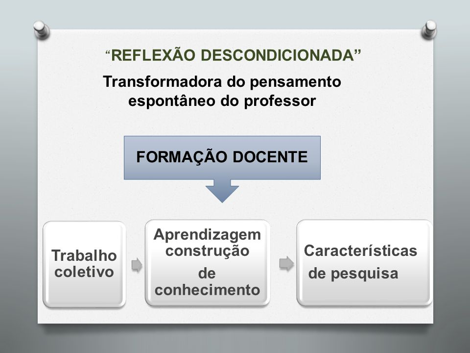 Transformadora do pensamento espontâneo do professor