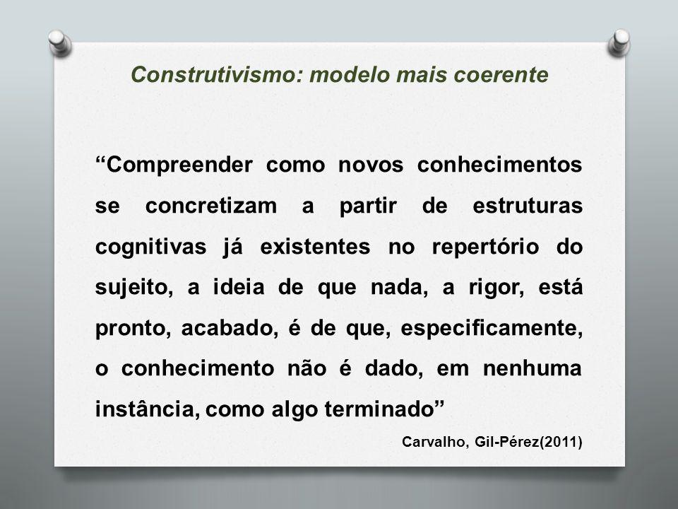 Construtivismo: modelo mais coerente