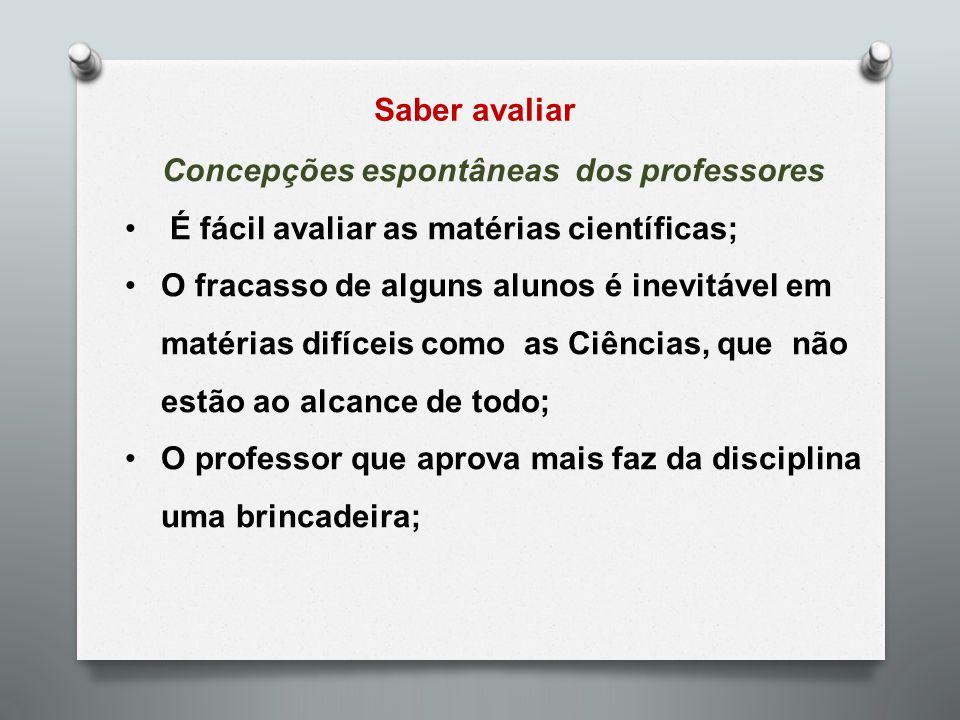 Concepções espontâneas dos professores