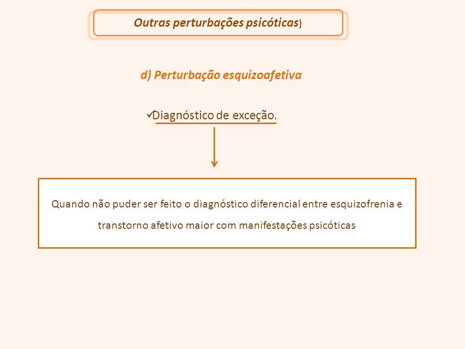 d) Perturbação esquizoafetiva