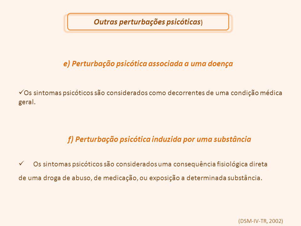 Outras perturbações psicóticas)