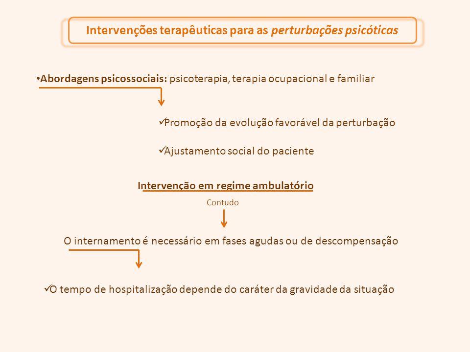 Intervenções terapêuticas para as perturbações psicóticas