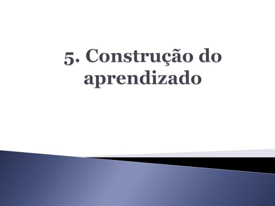 5. Construção do aprendizado