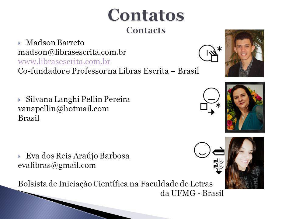 Contatos Contacts Madson Barreto madson@librasescrita.com.br