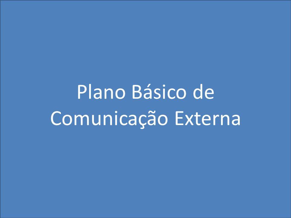 Plano Básico de Comunicação Externa