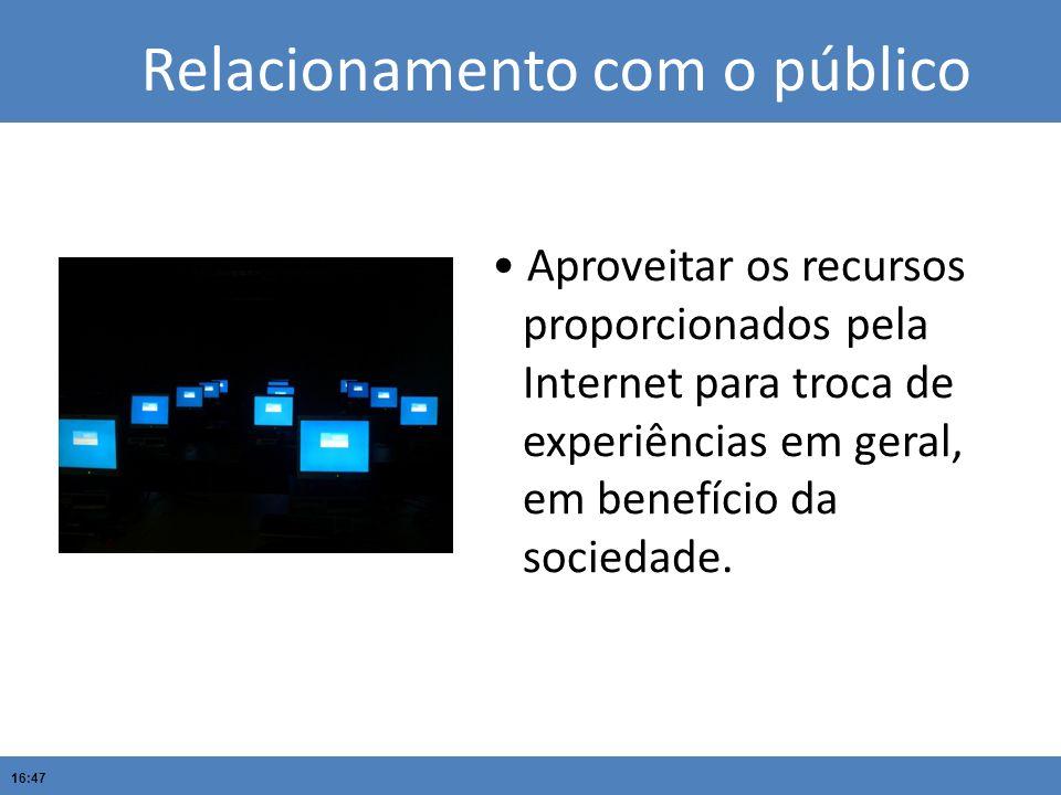 Relacionamento com o público