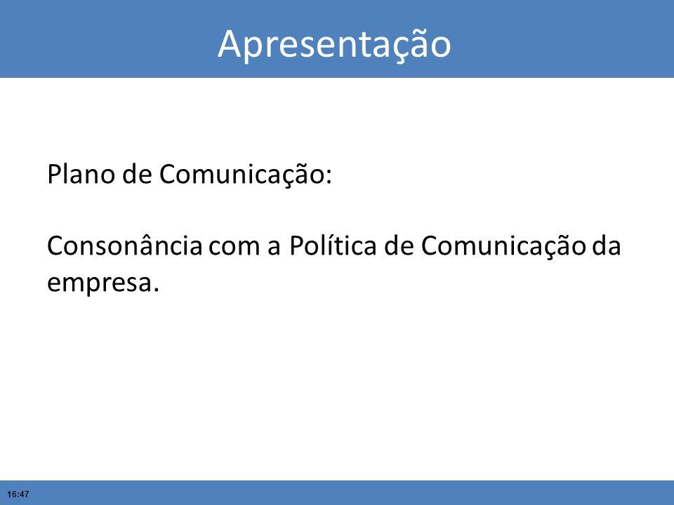 Apresentação Plano de Comunicação: