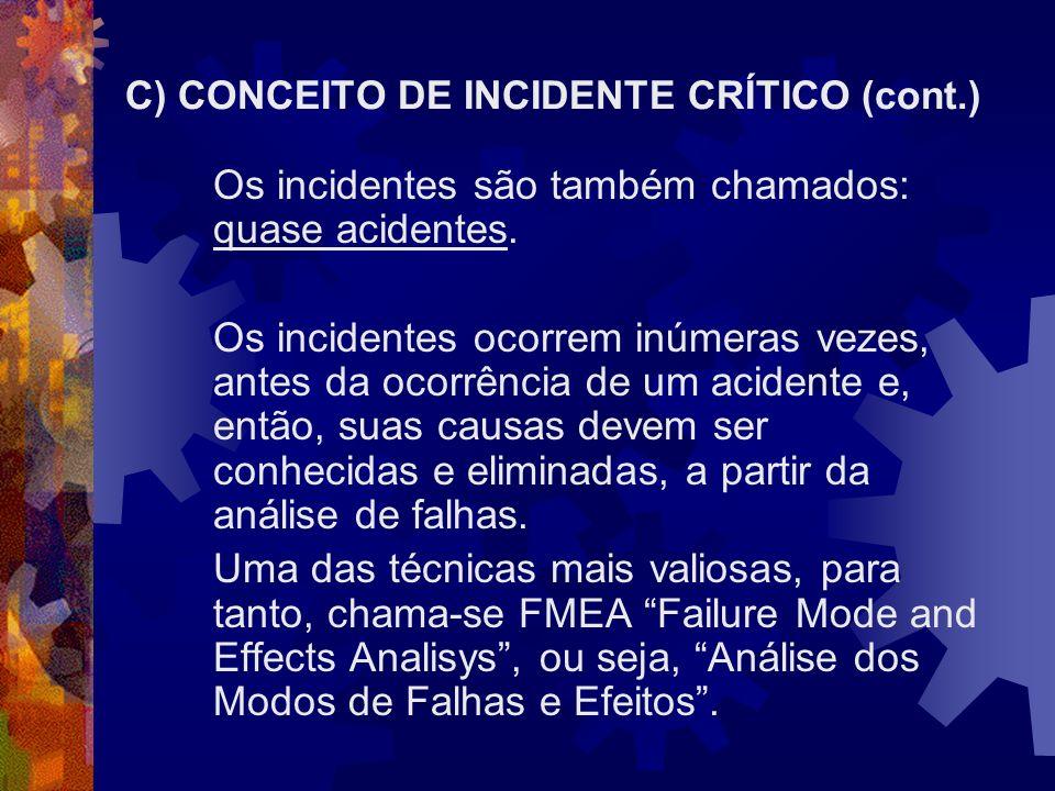C) CONCEITO DE INCIDENTE CRÍTICO (cont.)