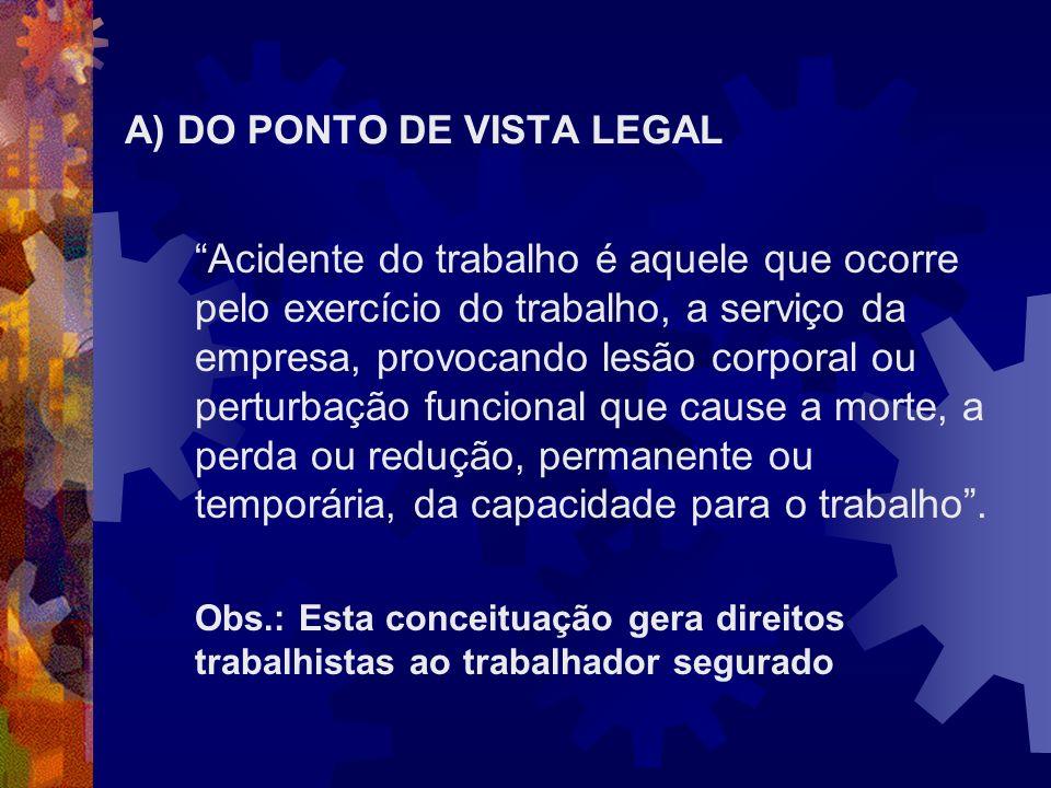 A) DO PONTO DE VISTA LEGAL