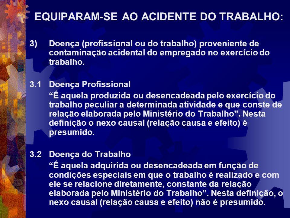 EQUIPARAM-SE AO ACIDENTE DO TRABALHO: