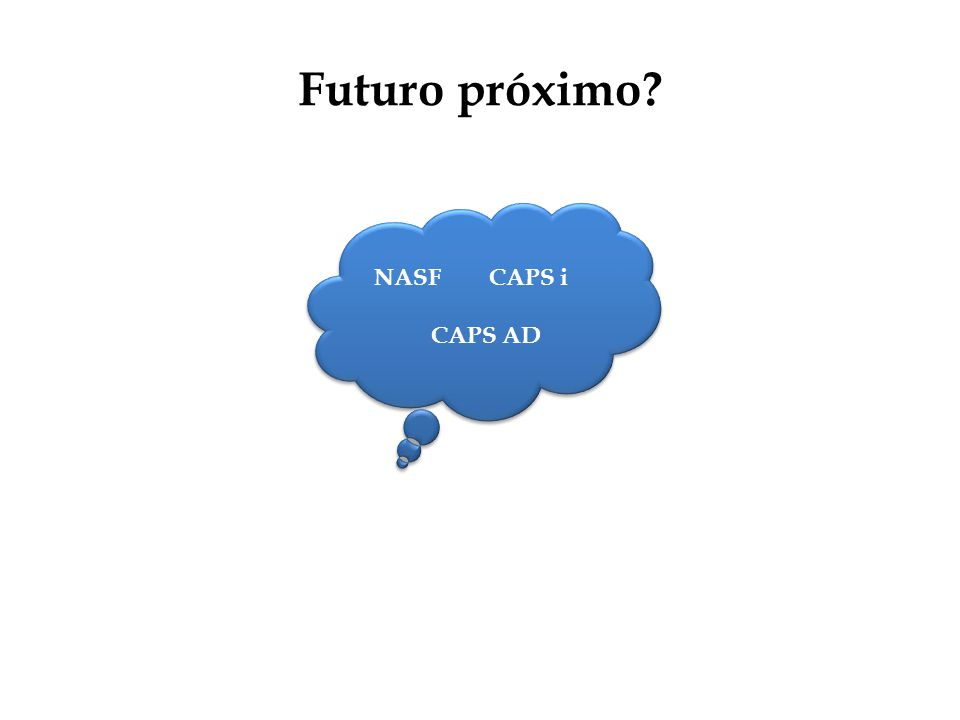 Futuro próximo NASF CAPS i CAPS AD