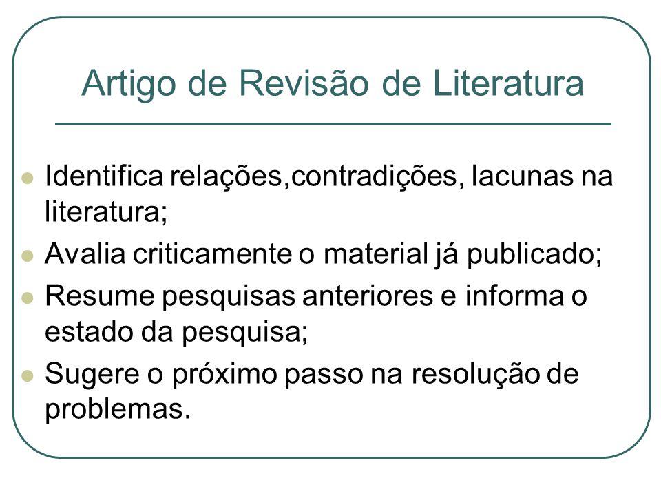 Artigo de Revisão de Literatura