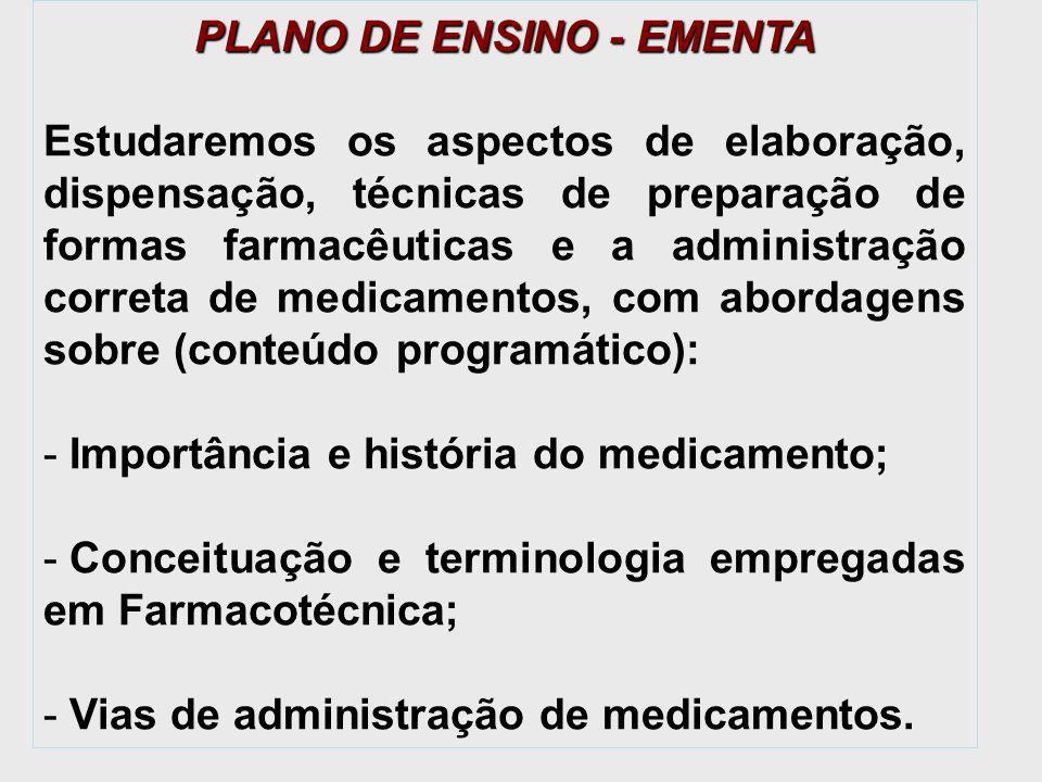 PLANO DE ENSINO - EMENTA