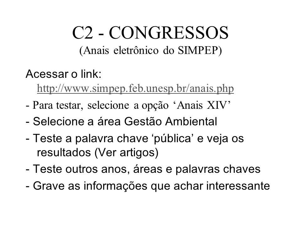 C2 - CONGRESSOS (Anais eletrônico do SIMPEP)