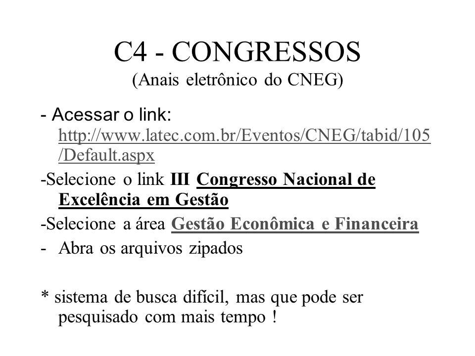 C4 - CONGRESSOS (Anais eletrônico do CNEG)