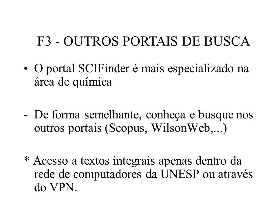 F3 - OUTROS PORTAIS DE BUSCA