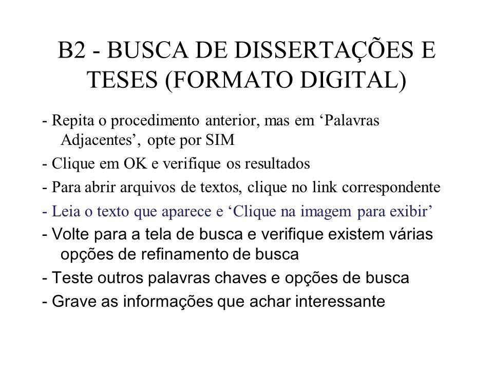 B2 - BUSCA DE DISSERTAÇÕES E TESES (FORMATO DIGITAL)