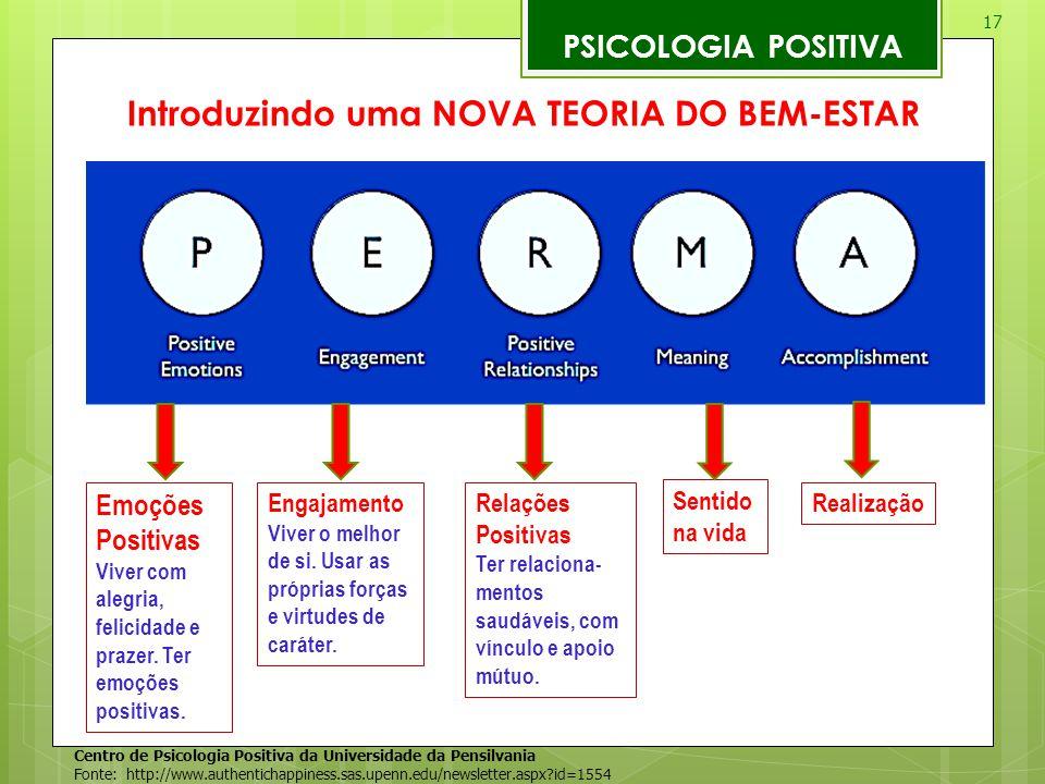 Introduzindo uma NOVA TEORIA DO BEM-ESTAR