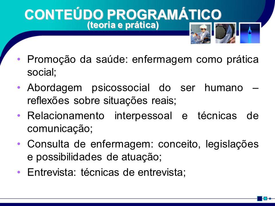 CONTEÚDO PROGRAMÁTICO (teoria e prática)