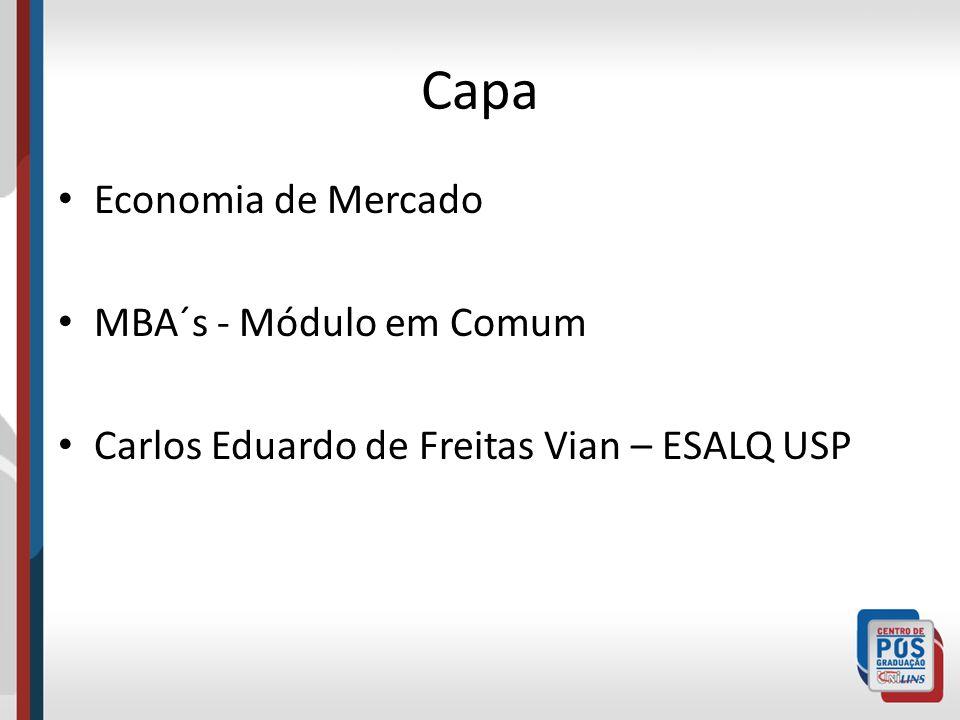 Capa Economia de Mercado MBA´s - Módulo em Comum